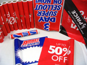 promotion packaging including banners